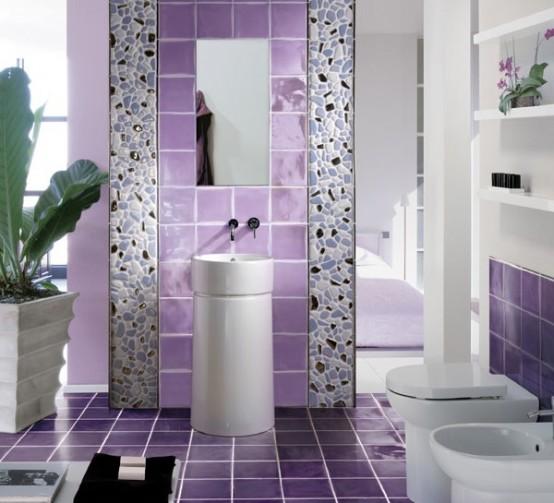Resultado de imagem para decoração violeta