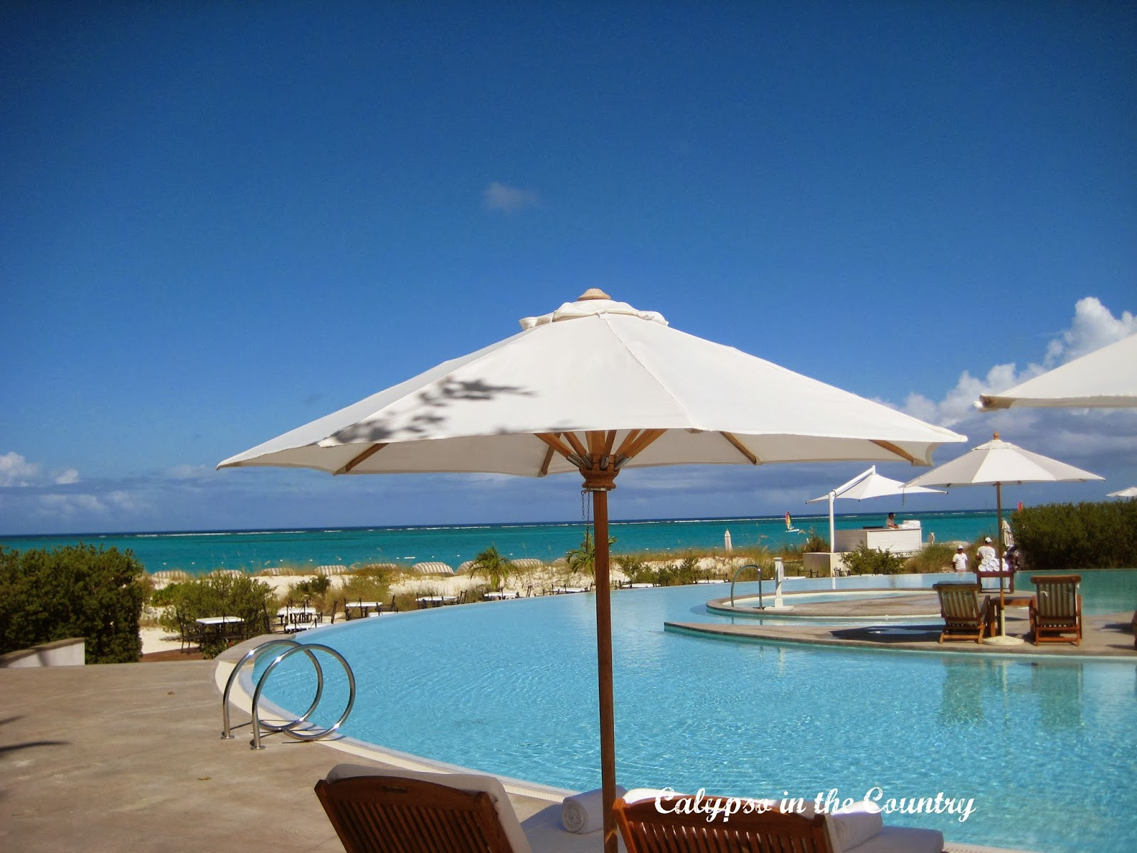 Umbrella at the Palms Turks and Caicos