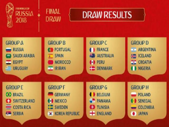Catat! Inilah Jadwal Lengkap Piala Dunia 2018 Rusia