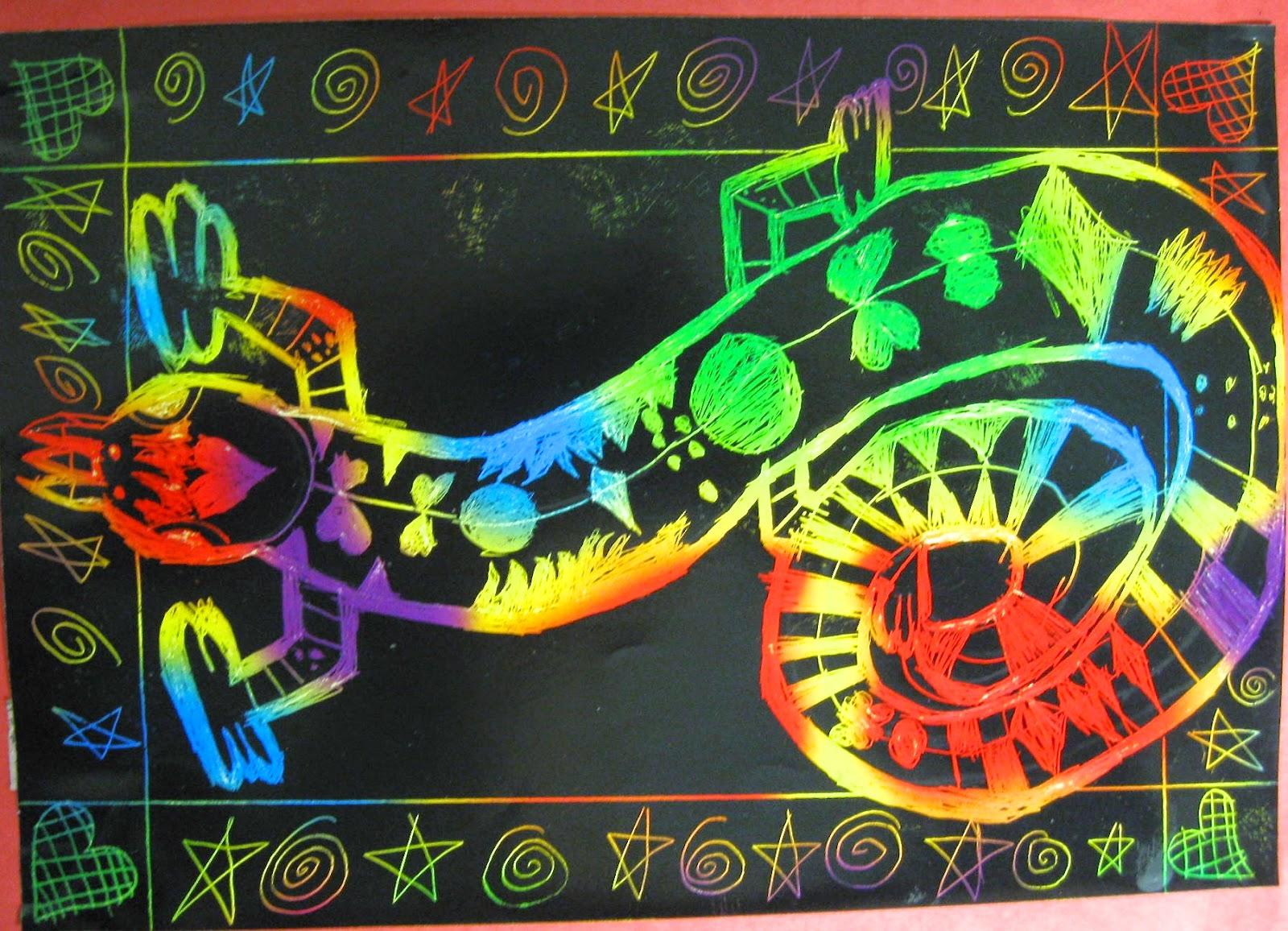 Abc School Art Lively Lizards