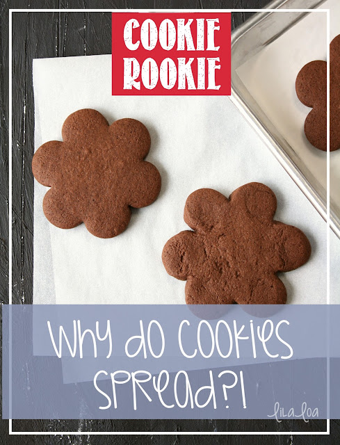Perfectly baked sugar cookie and sugar cookie that has spread in the oven - Why do cookies spread?