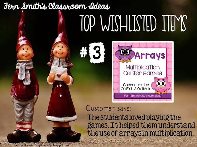 Fern Smith's Classroom Ideas Wishlist Linky Party for Cyber Monday and Cyber Tuesday at TeacherspayTeachers.