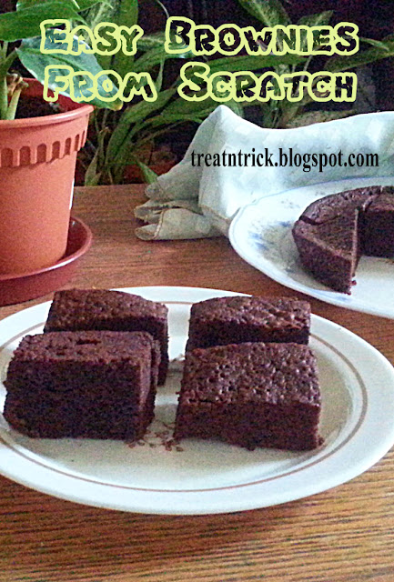 Easy Brownies From Scratch Recipe @ treatntrick.blogspot.com