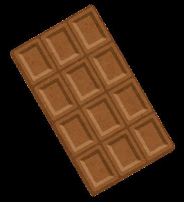 板チョコのイラスト(ミルク)