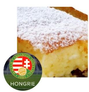Dessert au fromage blanc, parfum citron cuisine hongroise
