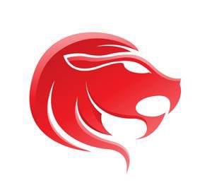 Imagen del signo del zodiaco Leo pintado de color rojo