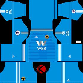 Wolverhampton Wanderers FC 2018/19 Kit - Dream League Soccer Kits