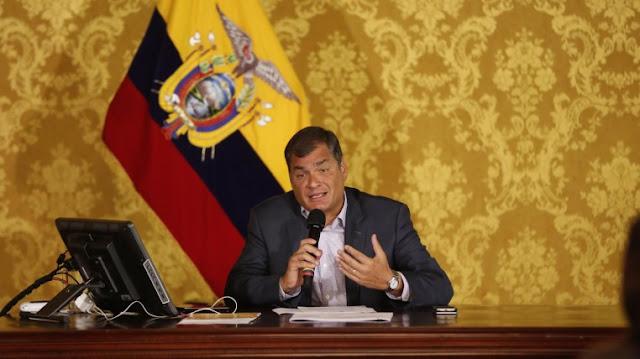 rafael correa presidente ecuador