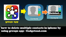 How to delete iphone contacts using groups app