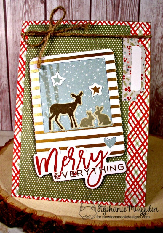 Merry Everything Card by Stephanie Muzzulin | Serene Silhouettes stamp set by Netwon's Nook Designs #newtonsnook