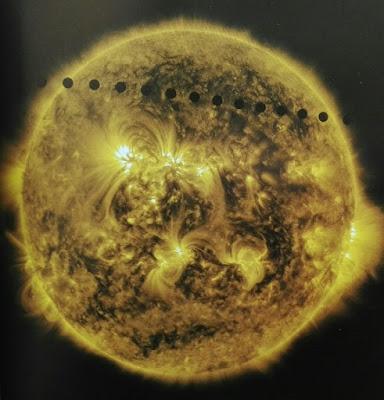 Transito de Venus por delante del Sol