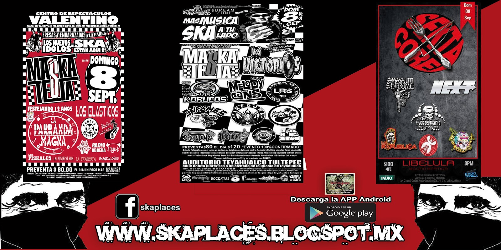 Cartelera Final de Ska Places Sabado•••Domingo de Ska,Punk