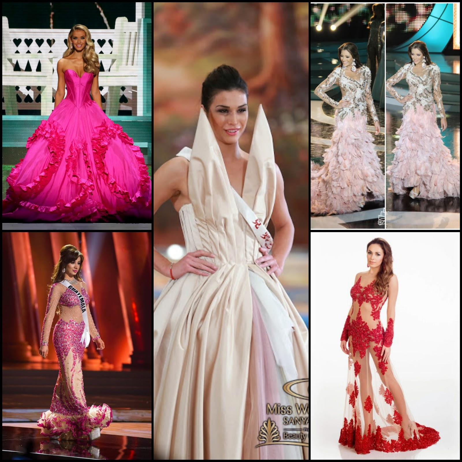 sashes and tiaras the most oh dear ayyy mija beauty pageant gowns of 2015 clockwise l to r miss oklahoma usa and eventual miss usa at miss usa 2015 miss at miss world 2015 top model world dress