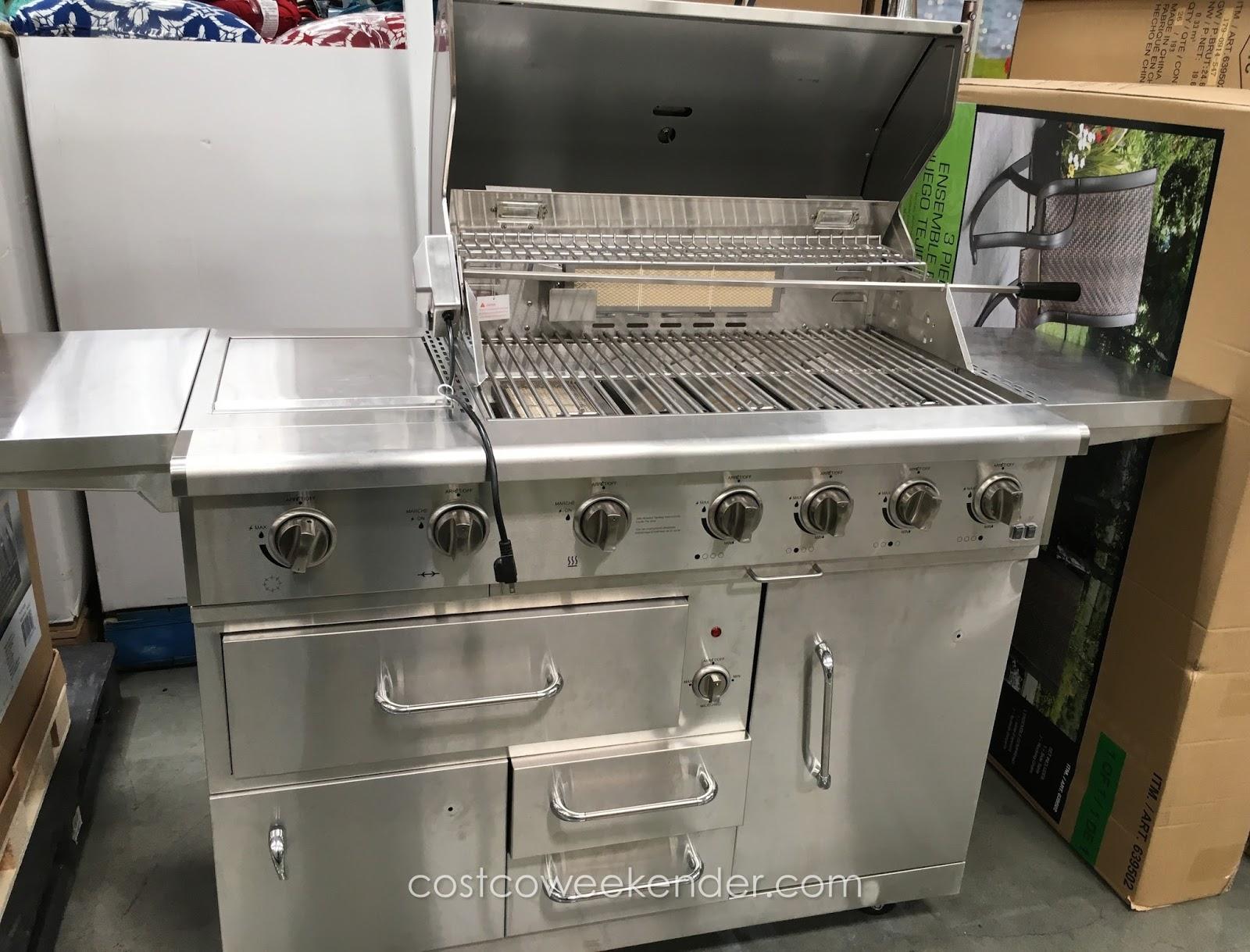 Nxr burner premium stainless steel propane gas grill
