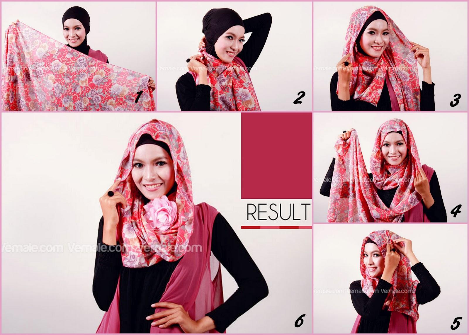 27 Gambarnya Tutorial Hijab Pashmina Cantik Terlengkap Tutorial