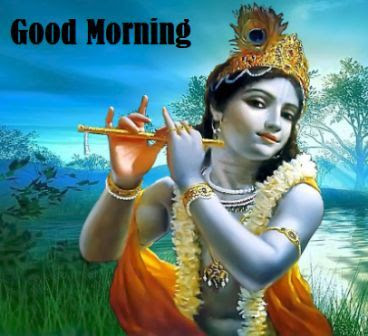 good morning images god - lord sri krishna