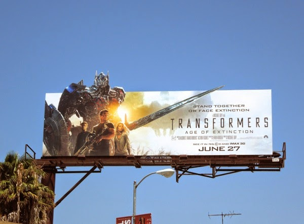 Transformers Age of Extinction special extension billboard