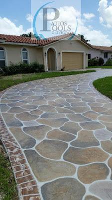 #decorativeconcrete #decorativeoverlay #concrete #driveway