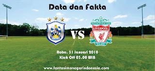 Data dan Fakta Fantasy Premier League Huddersfield vs Liverpool Fantasi Manager Indonesia