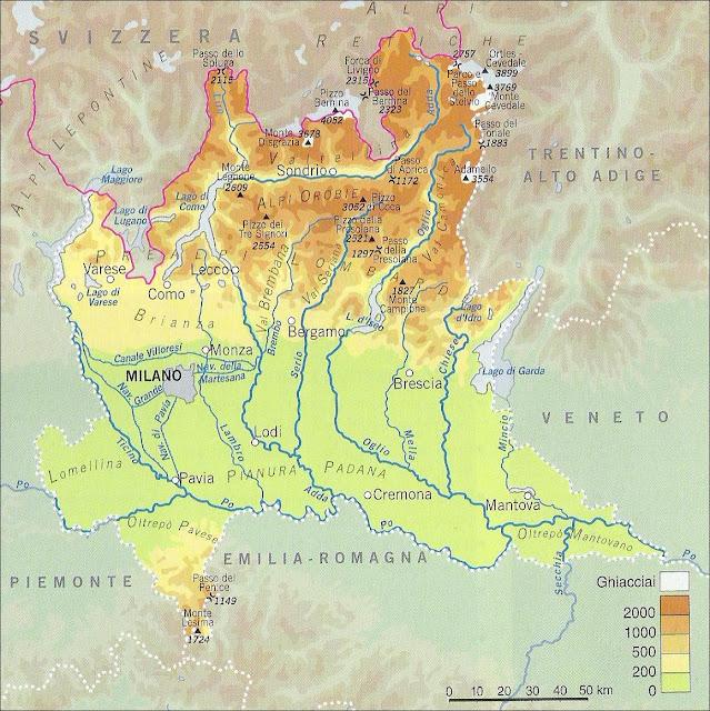 La Lombardia Cartina Fisica.Chi Viaggia Impara Immagini Dal Mondo Italia Lombardia