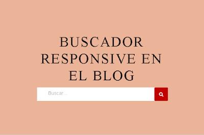 Buscador Responsive en el blog