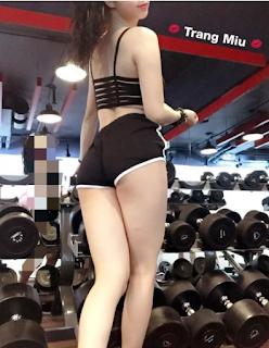 Những hot girl khoe hàng trong phòng gym ảnh lộ hàng