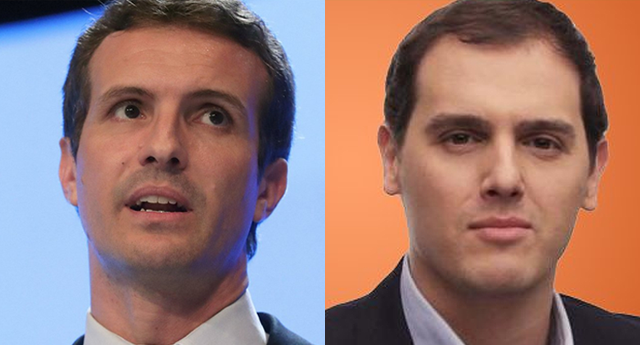 Casado exige a Rivera que aclare si pactará con el PSOE