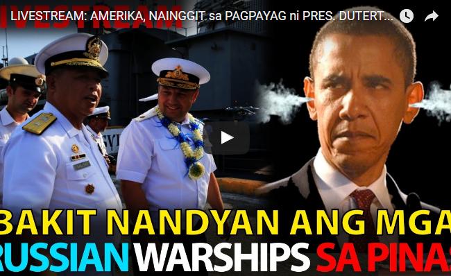 WATCH:  Amerika, Nainggit Sa Pagpayag Ni Pres. Duterte Na Bumisita Ang Mga Russian Warships