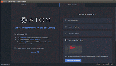 welcome atom