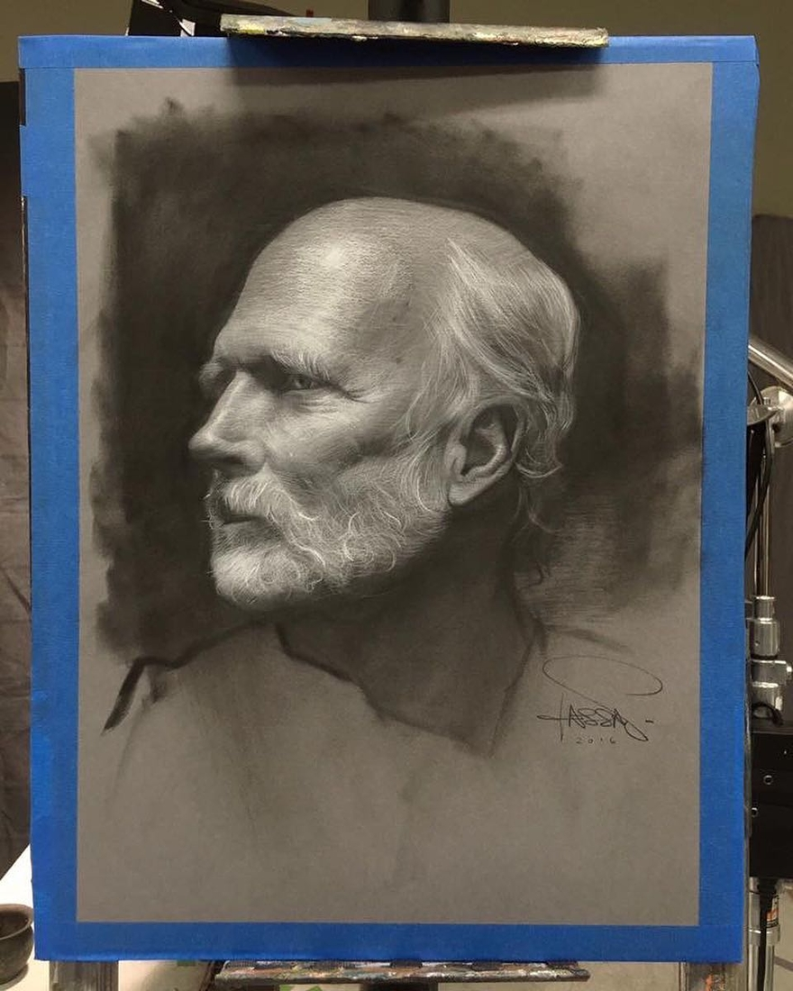 02-Drawing-Demo-David-Kassan-Charcoal-Portrait-Drawings-of-Ordinary-People-www-designstack-co