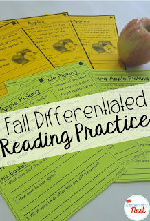 differentiated reading passages- September Activities and primary resources plus three FREEBIES- fun ELA, math, and social studies activities for students during the month of September