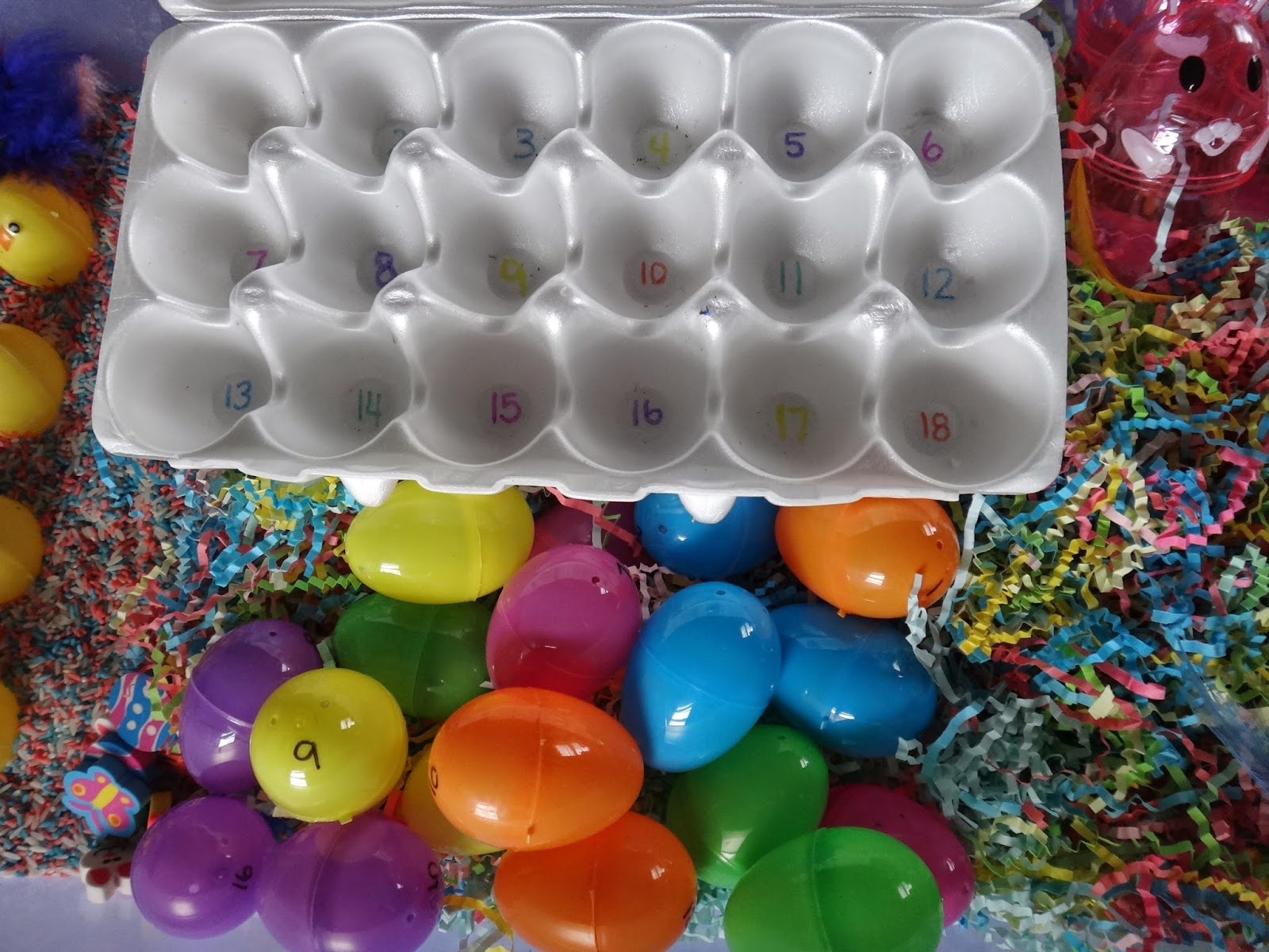 Easter plastic egg matching