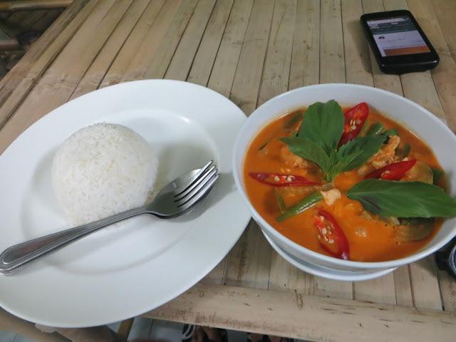 Красное карри с рисом