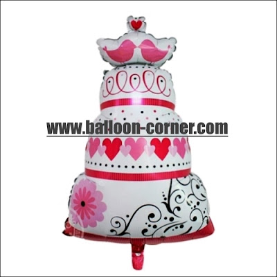 Balon Foil WEDDING CAKE