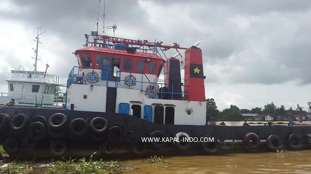 jual tugboat sumber utama 01, kapal tugboat sumber utama 01, jual tugboat bekas, jual tugboat 825x2HP, jual tugboat tahun 2006, jual tugboat di banjarmasin, jual tugboat mesin CUMMINS VTA 28