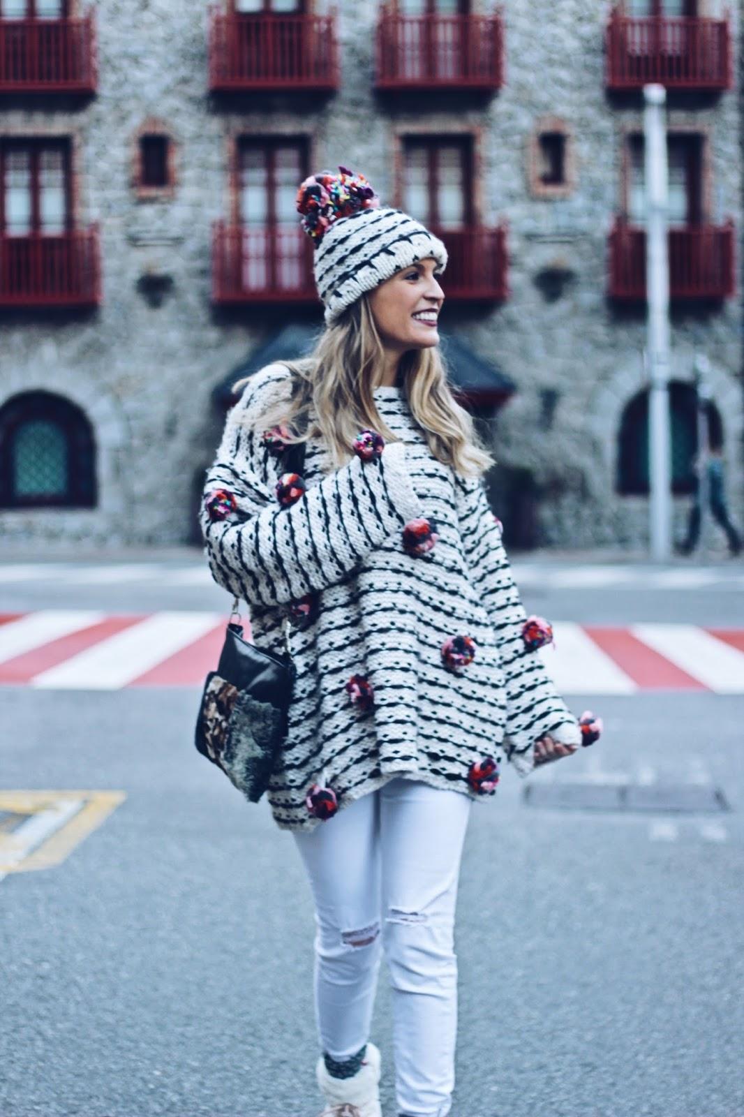 look total white para invierno