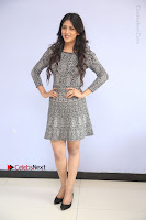 Actress Chandini Chowdary Pos in Short Dress at Howrah Bridge Movie Press Meet  0091.JPG