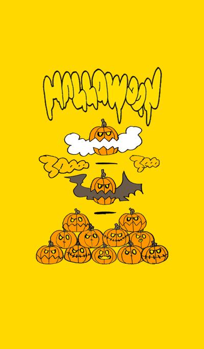 Halloween pumpkin yellow