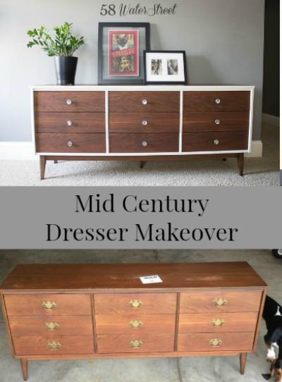 vintage, bassett, makeover, dresser, danish oil, annie sloan, chalk paint, mid century