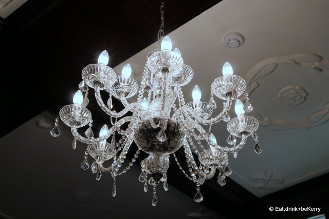 The Shingle Inn had chandeliers long before they were they were fashionable in home decorating.