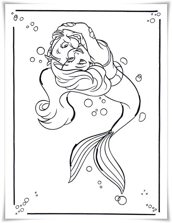 Ausmalbilder Zum Ausdrucken Ausmalbilder Prinzessin Arielle