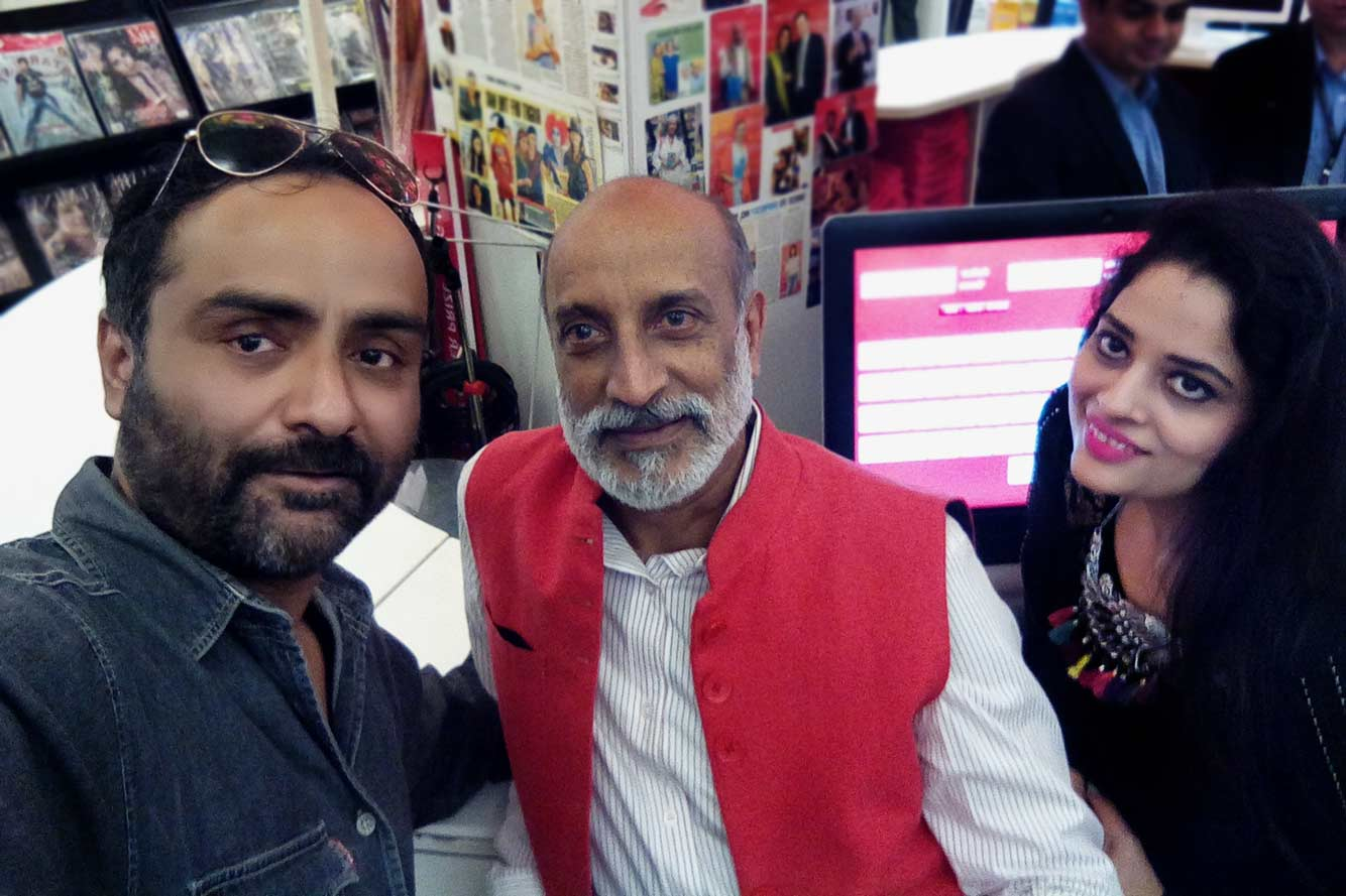 Bharat Tiwari, Aman Nath and HR head Oxford Bookstore