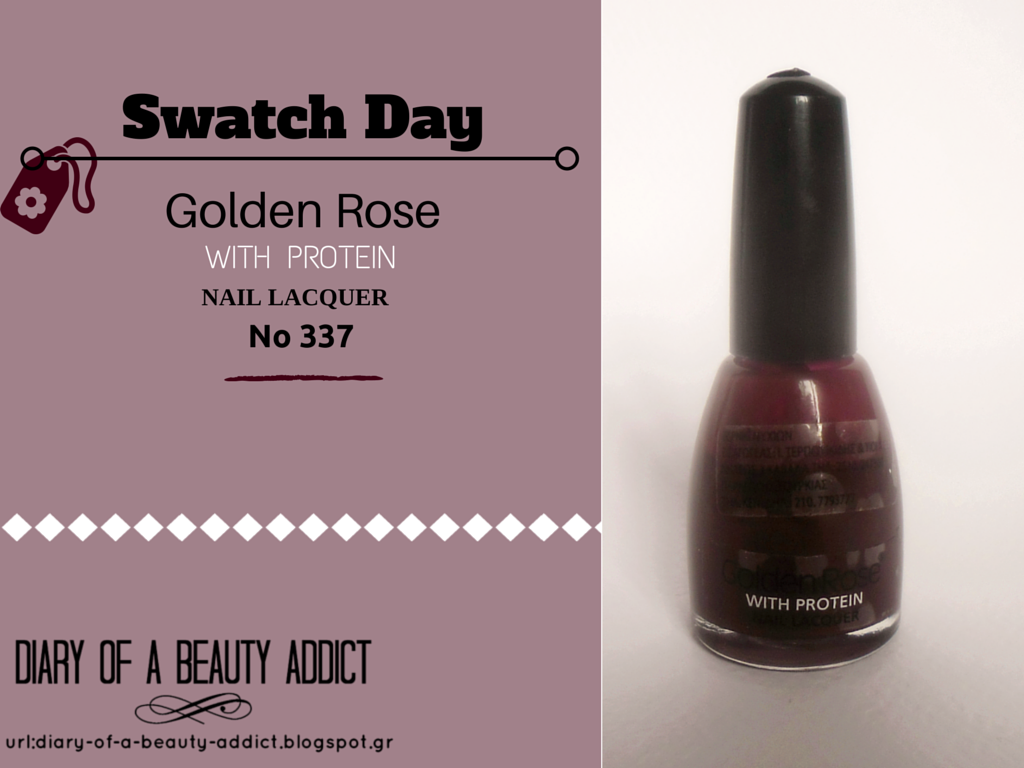 Swatch Day: Golden Rose with Protein Nail Lacquer - No337