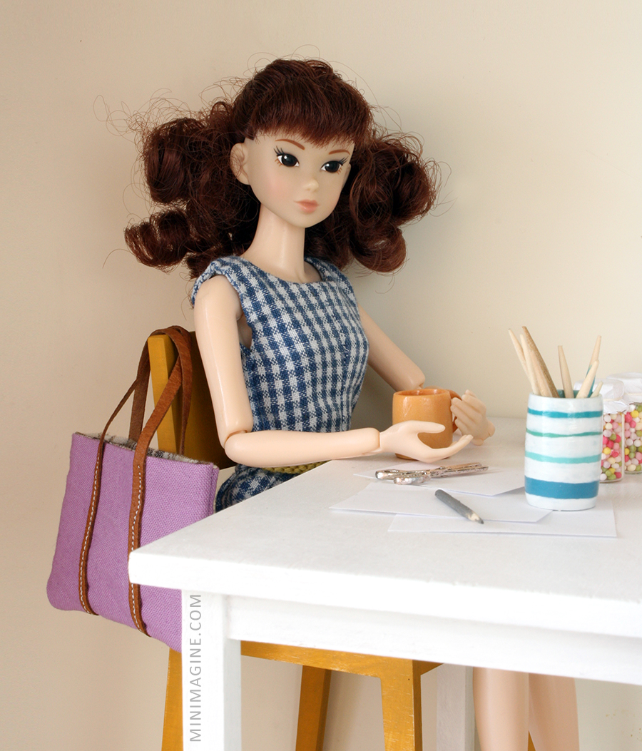 "Momoko doll ""Sweet Poodle"" and sixth scale furniture"