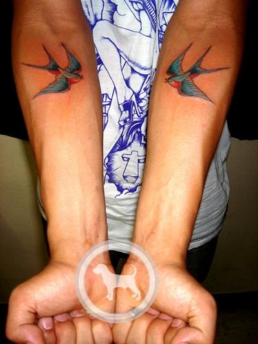 tatuaje de golondrina original