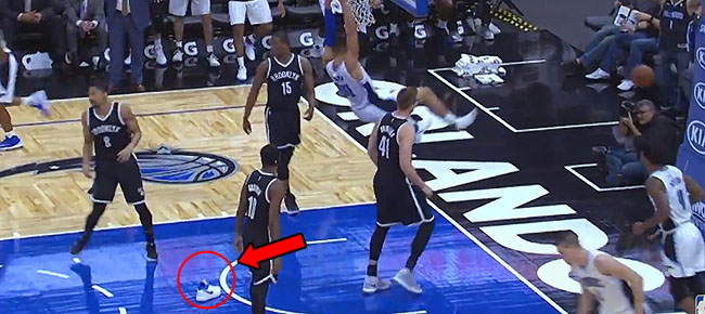 Aaron Gordon Off The Glass With ONE SHOE in Orlando! (VIDEO)