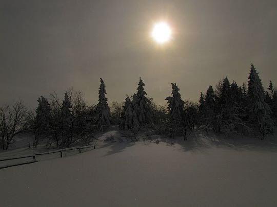 Słońce nad Wierchem Lubania.