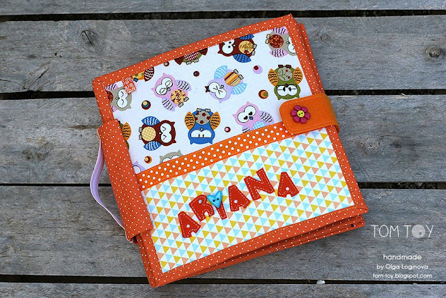 Quiet book for Ariana, Handmade personalized busy book made by TomToy