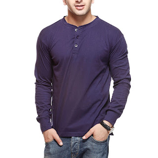 GRITSTONES Men's Plain Slim Fit T-Shirt