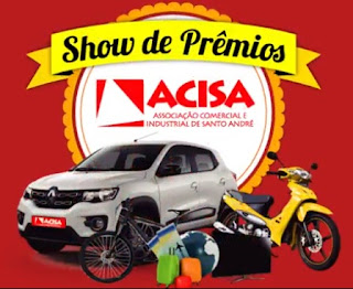 Promoção ACISA Santo André Show de Prêmios 2017 2018 Natal Final de Ano